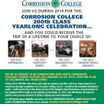 "Corrosion College Announces ""200th Class Yearlong Celebration"""