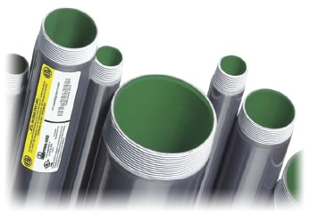 Perma-Cote PVC Coated Rigid Metal Conduit! ETL-Verified! Look for the label.