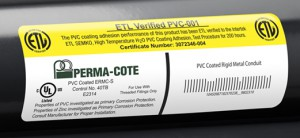 Perma-Cote is authorized to carry BOTH ETL Verified mark and UL-listed label