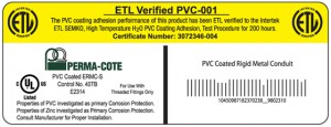 ETL-Verified mark of performance and a UL-rated label